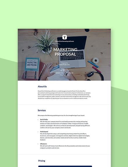 Marketing Business Proposal Template