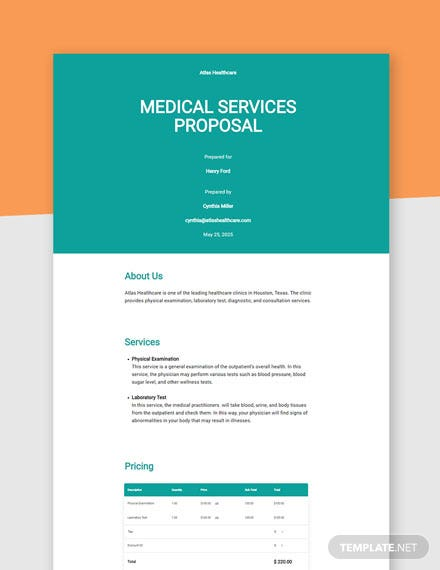 Editable Medical Proposal Template