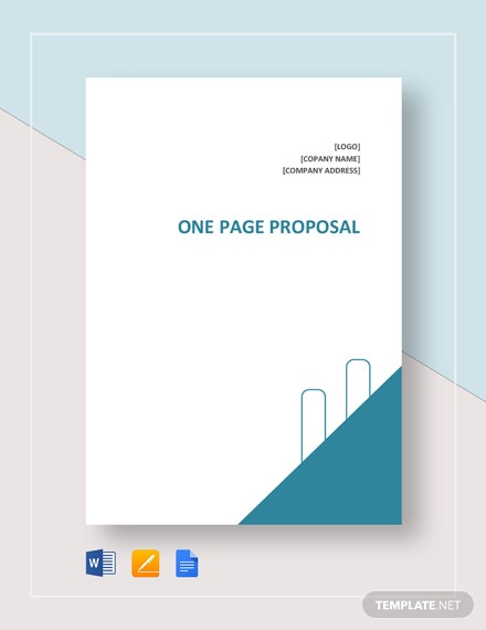 One-Page Proposal Template