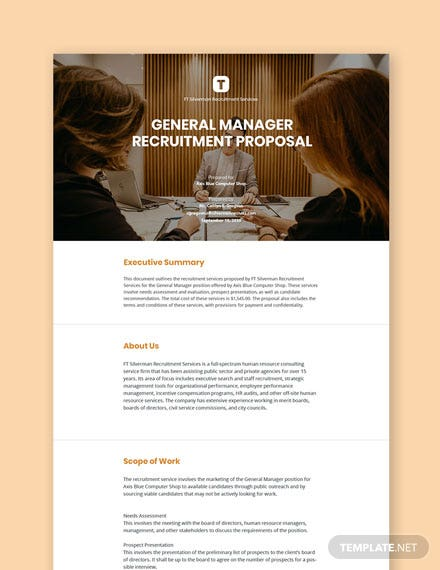 Recruitment Proposal Template