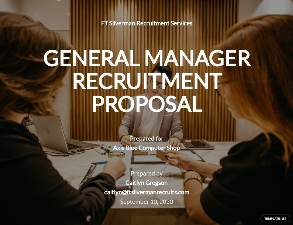 Recruitment Proposal Template