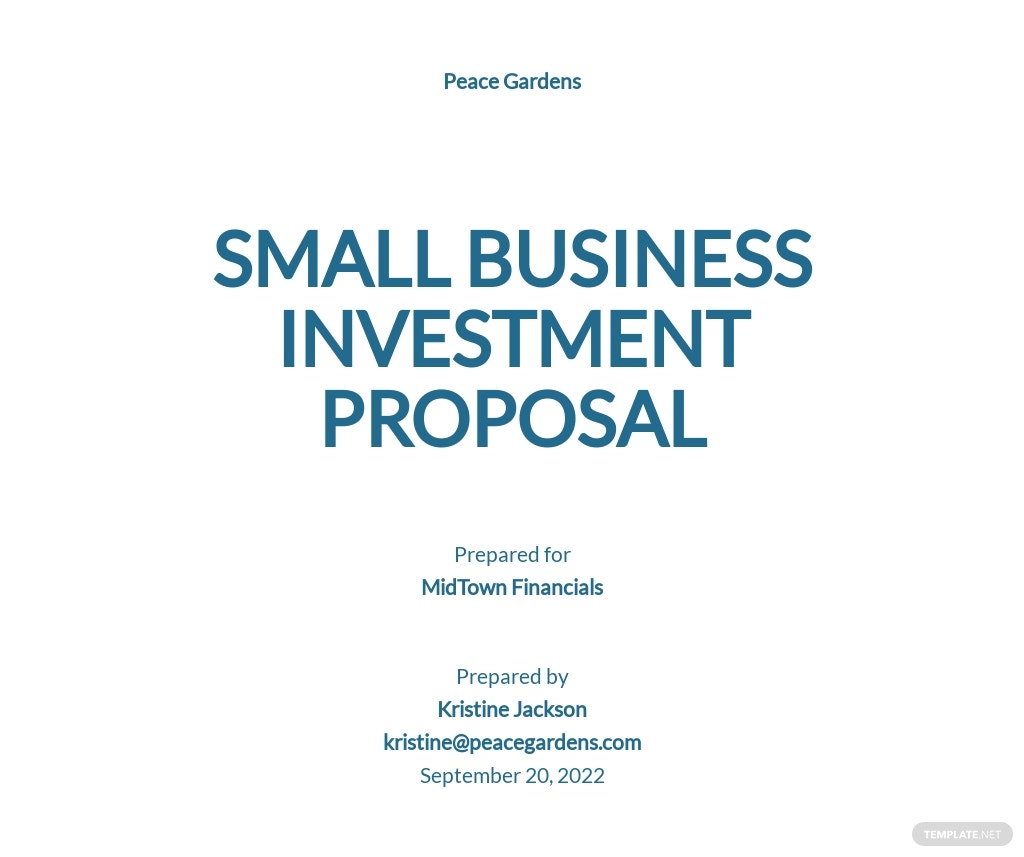 Small Business Proposal Template [Free PDF] - Google Docs, Word, Apple Pages, PDF