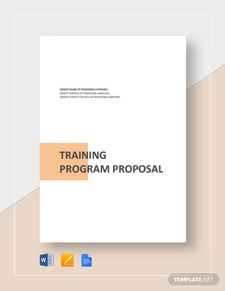 Training Project Proposal Template