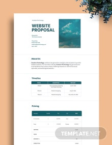 Website Proposal Template