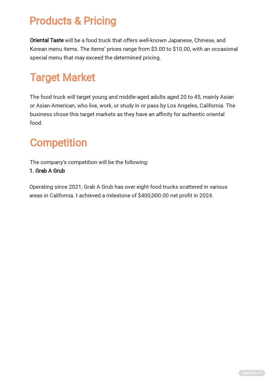 Business Plan Profit And Loss Template 2.jpe