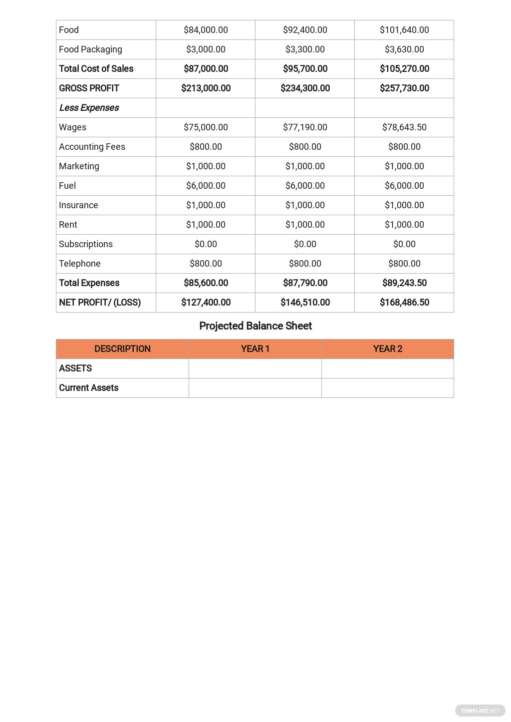 Business Plan Profit And Loss Template 7.jpe