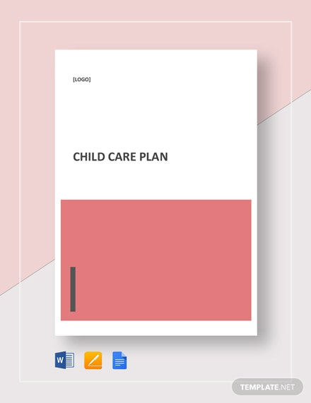 Child Care Plan Template