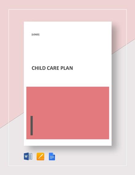 Child Care Plan Template
