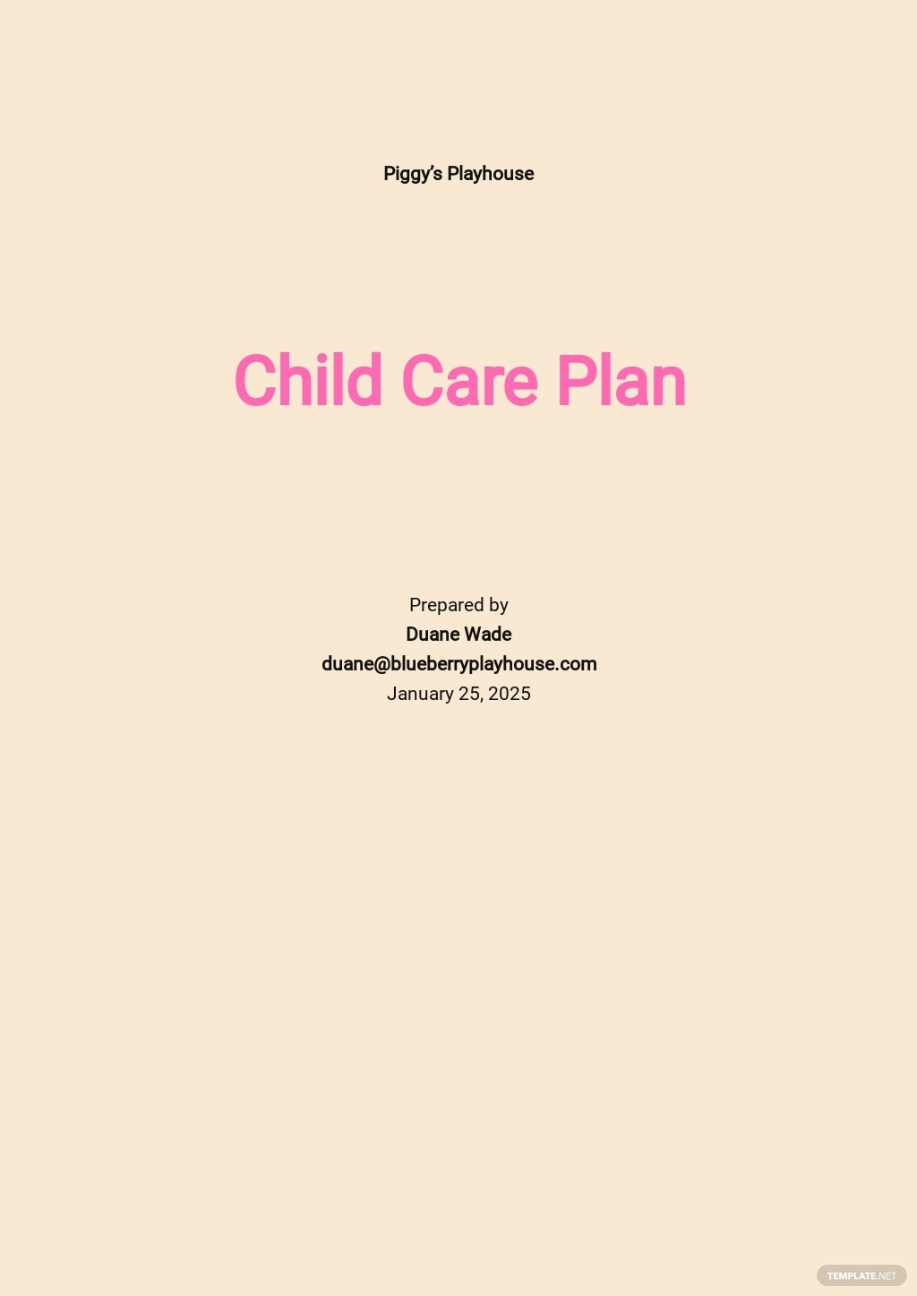 Child Care Plan Template.jpe