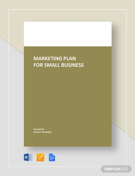 Marketing Plan for Small Business Template