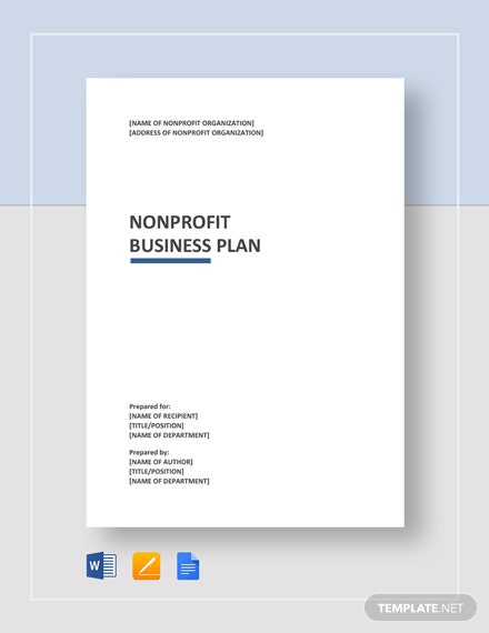 Nonprofit Business Plan Template