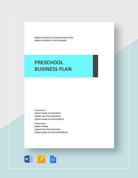 Preschool Business Plan