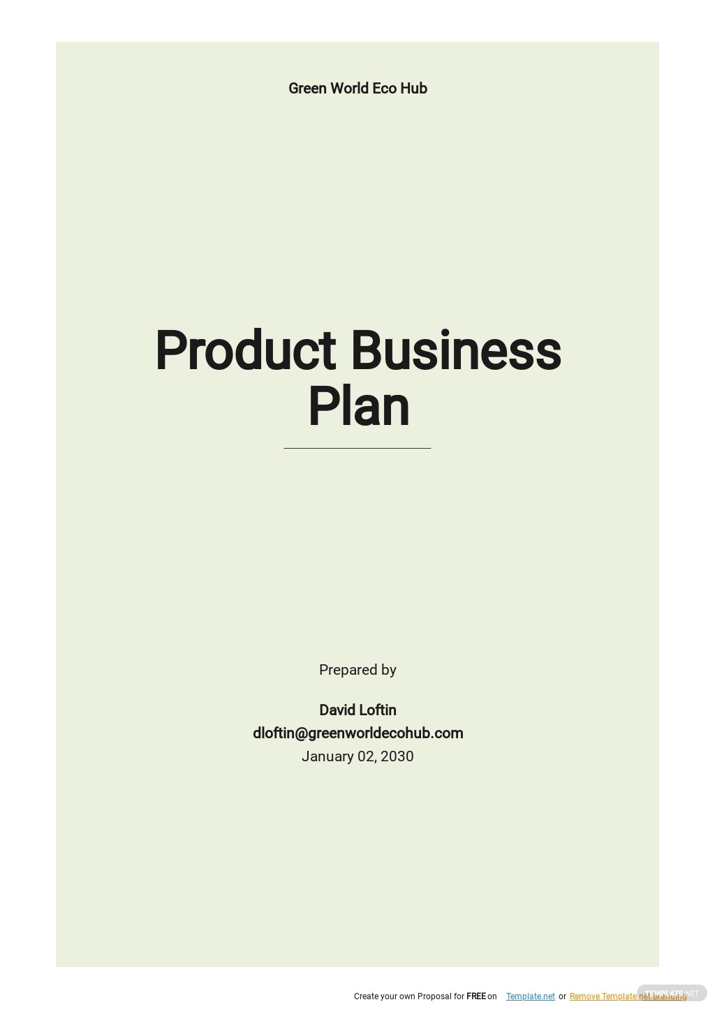 Product Business Plan Template.jpe