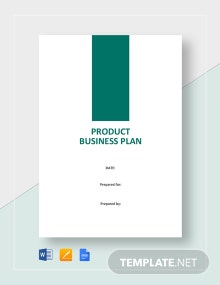 Product Business Plan Template