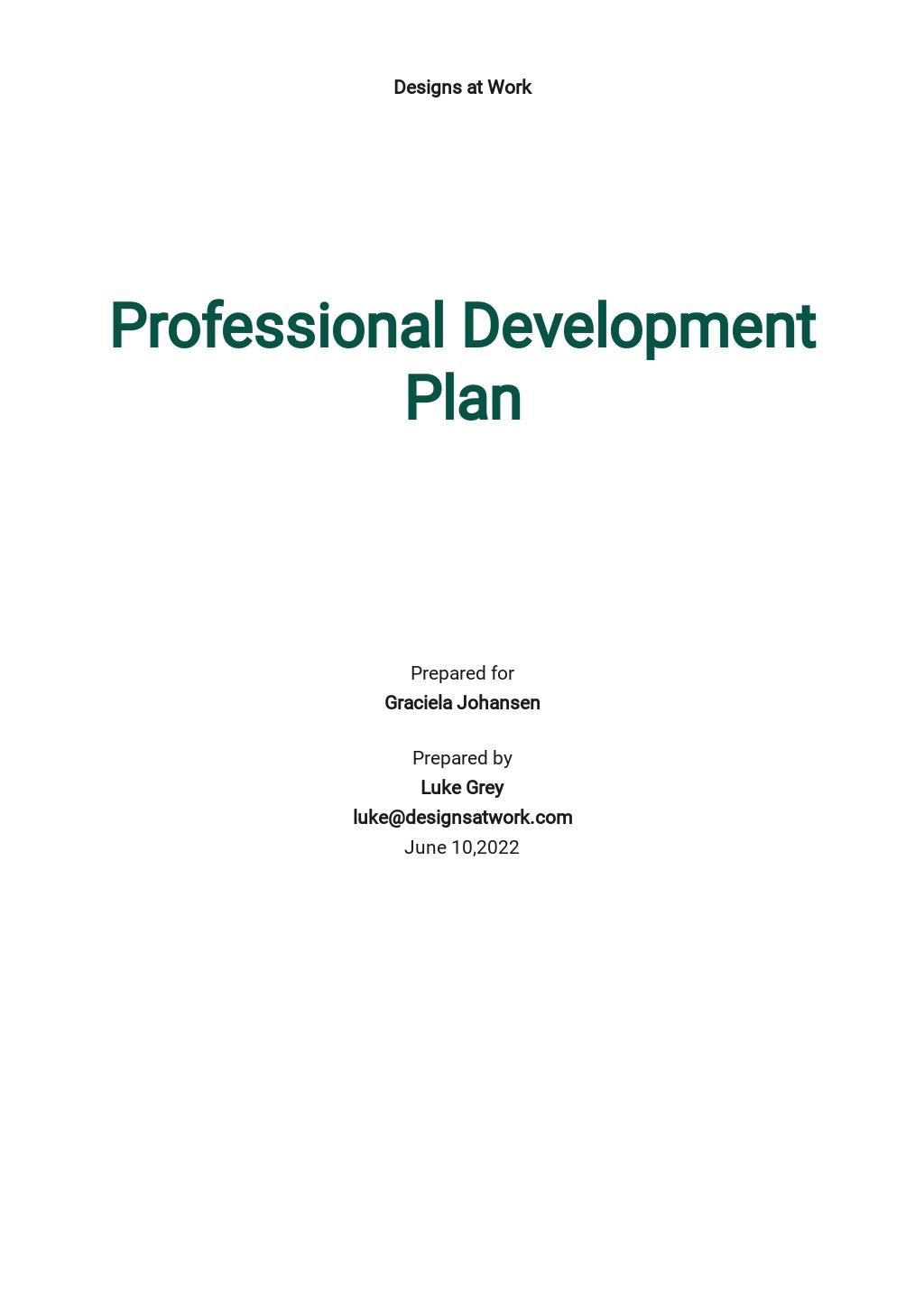 Professional Development Plan Template.jpe