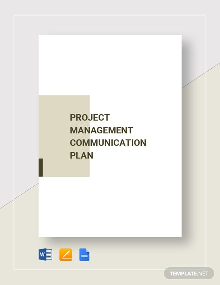 Project Management Communication Plan Template