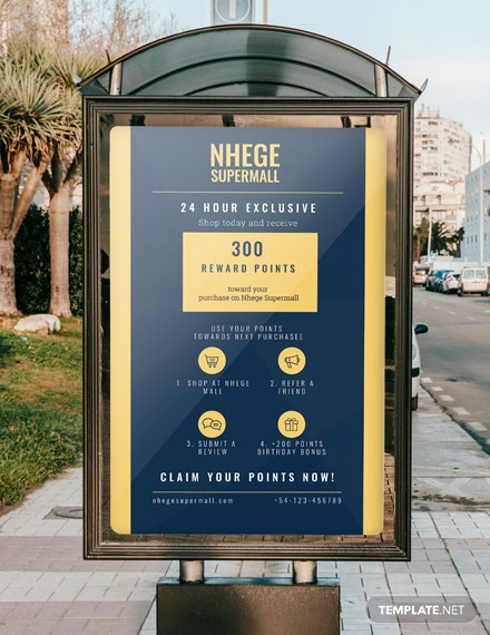Free Loyalty Program Digital Signage Template