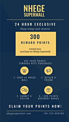 Free Loyalty Program Digital Signage Template