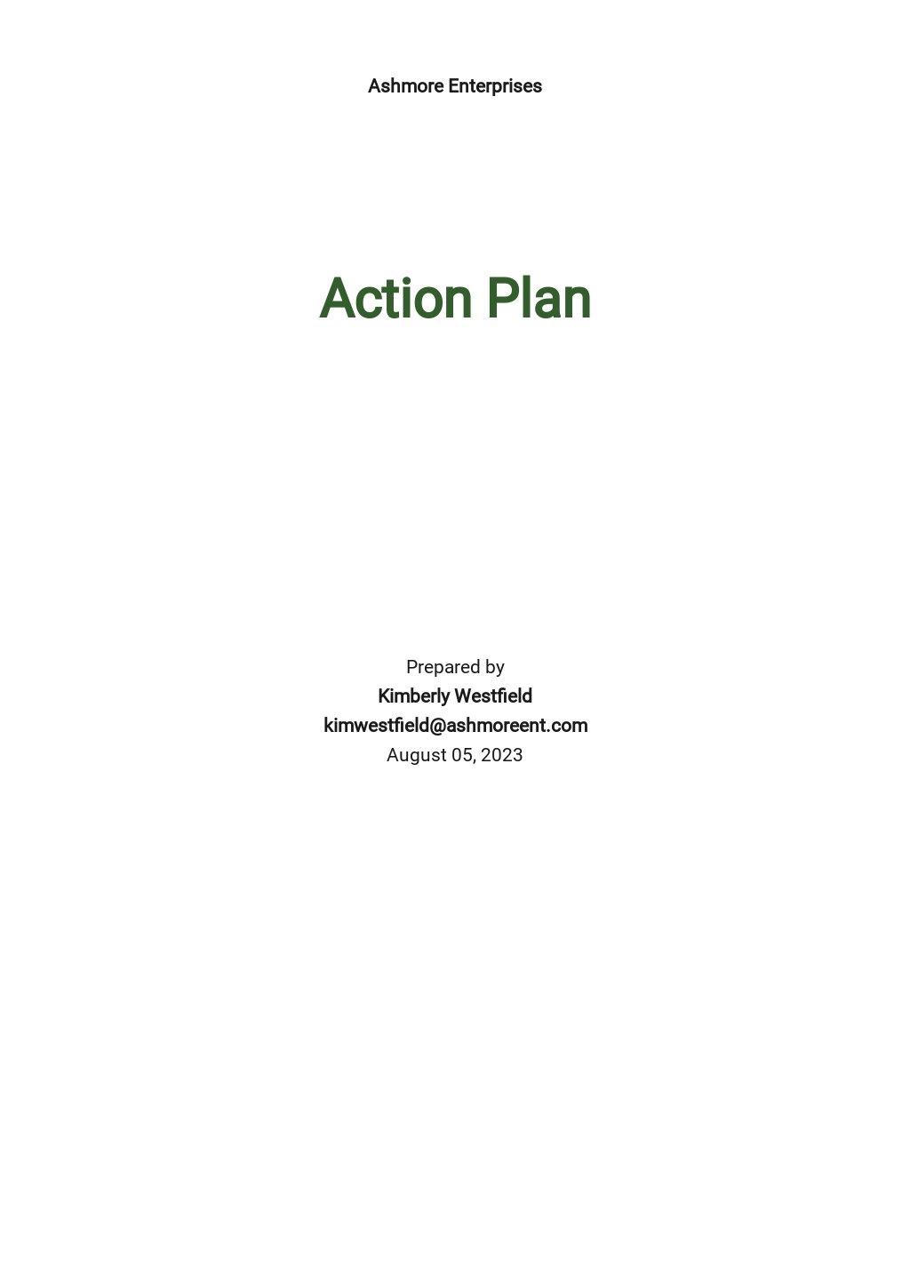 Recruitment Action Plan Template [Free PDF] - Google Docs, Word, PDF