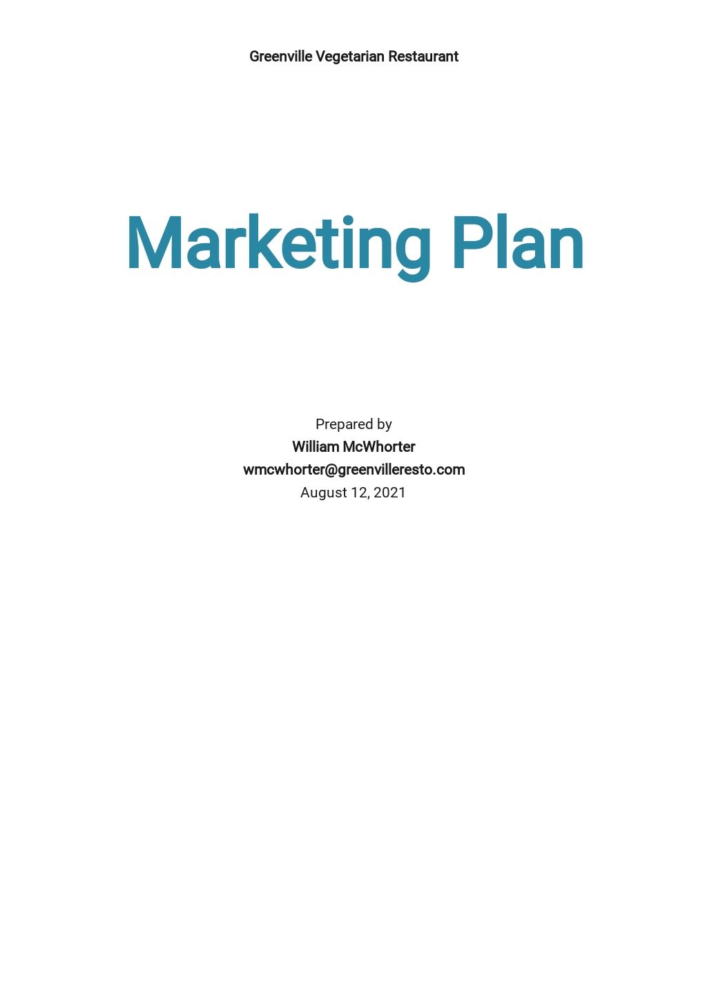 Restaurant Marketing Plan Template.jpe