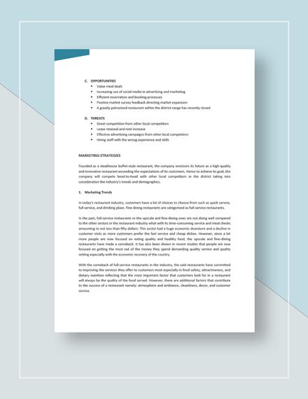 Sample Restaurant Marketing Plan
