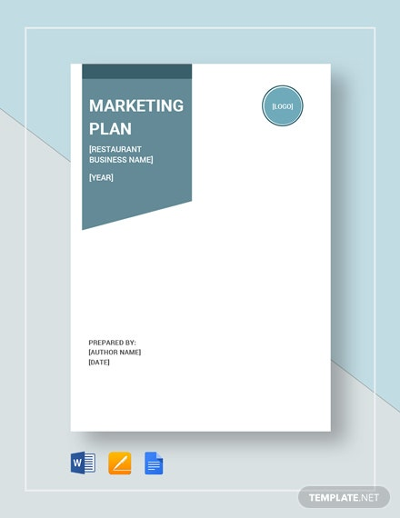 Restaurant Marketing Plan Template