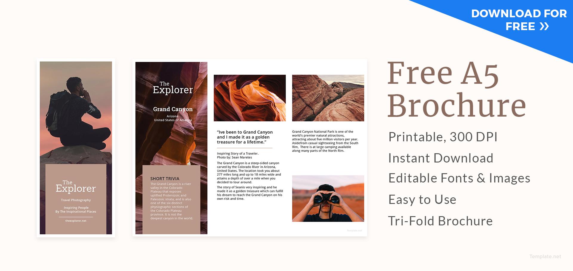 Editable A Brochure Template
