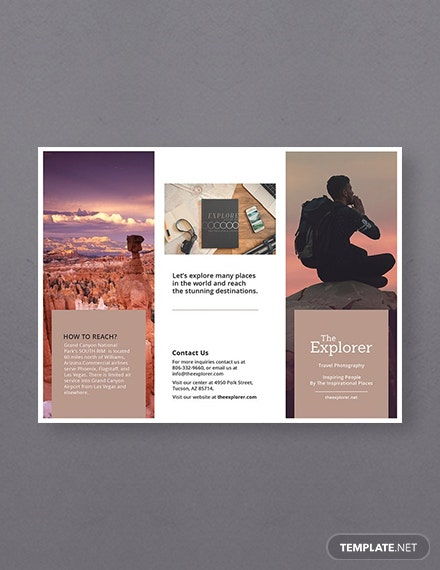 Free A Brochure Template