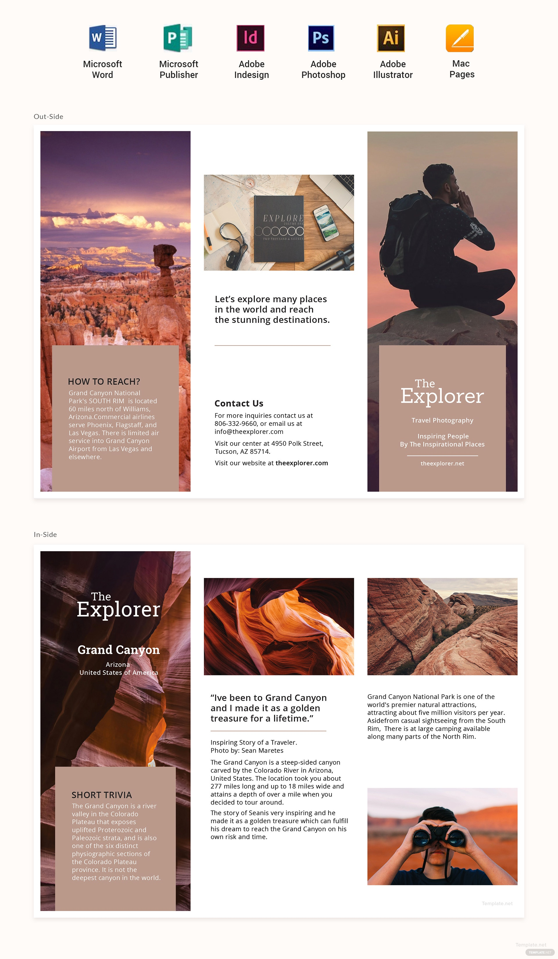 Free a5 brochure template in psd ms word publisher for A5 brochure template