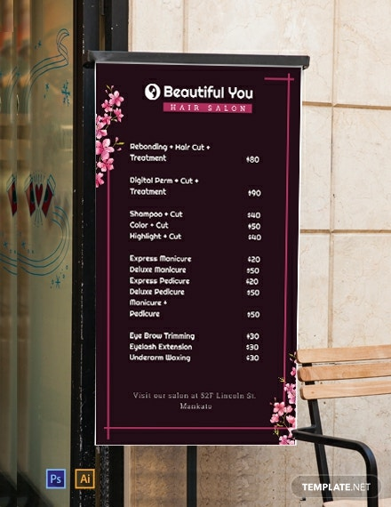 Free Price List Digital Signage Template