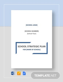 School Strategic Plan Template