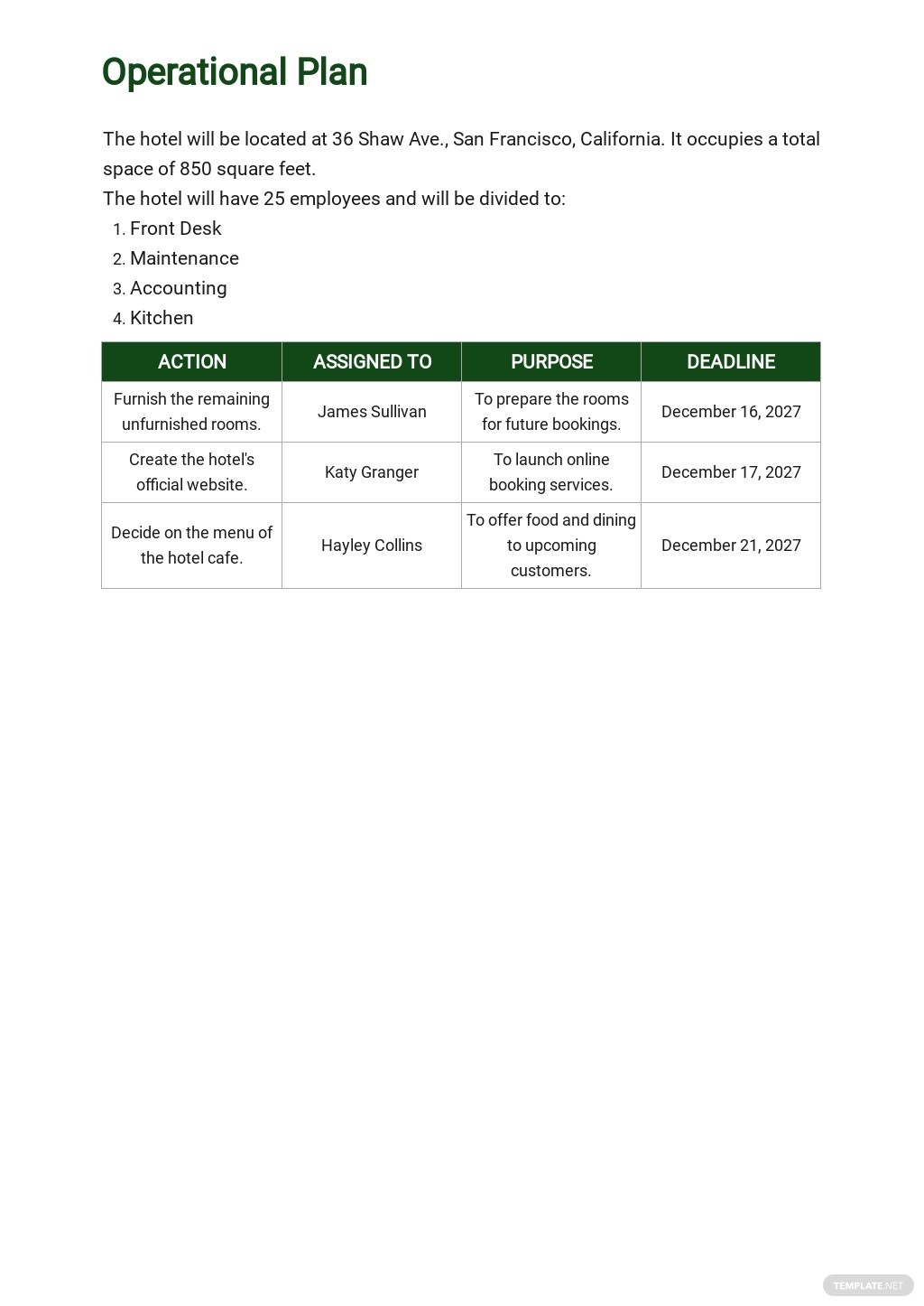 Small Hotel Business Plan Template 4.jpe