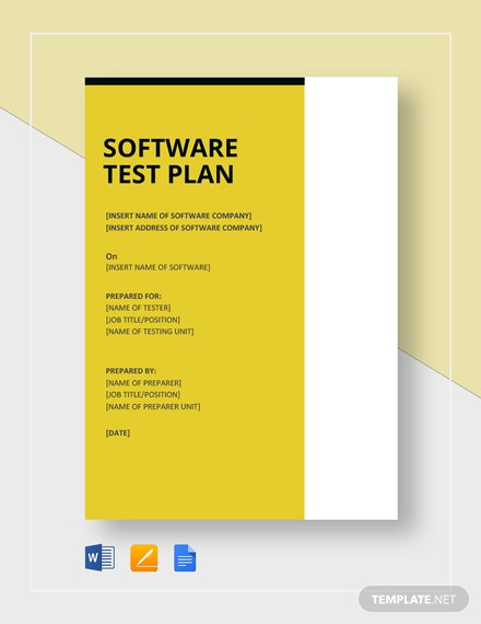 Software Test Plan Template
