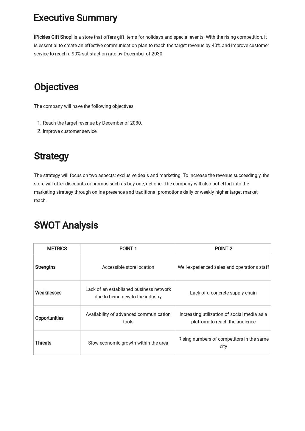 Simple Strategic Communication Plan Template 1.jpe