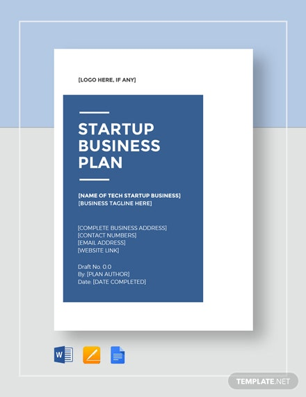 Tech Startup Business Plan Template Word Google Docs
