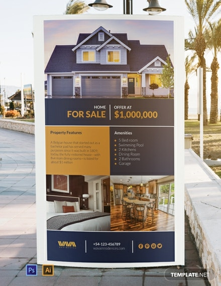 Free Real Estate Listing Digital Signage Template