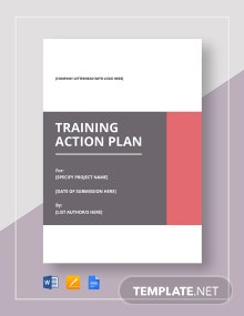 Training Action Plan Template