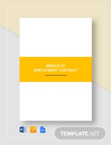 Breach of Employment Contract Template