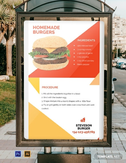 Free Recipe Digital Signage Template