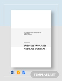 Business Purchase and Sale Contract Template