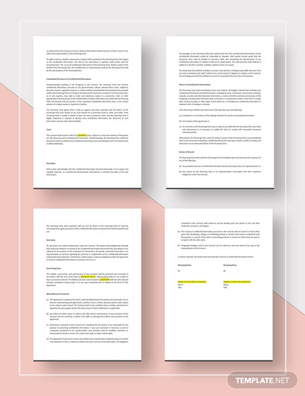 Sample Company Contract