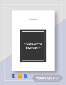 Contractor Timesheet Template