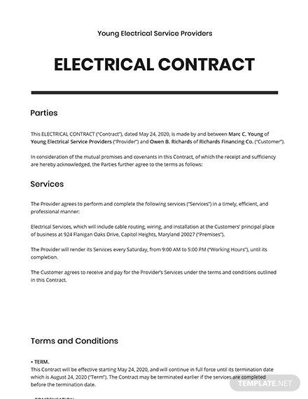 Electrical Contract
