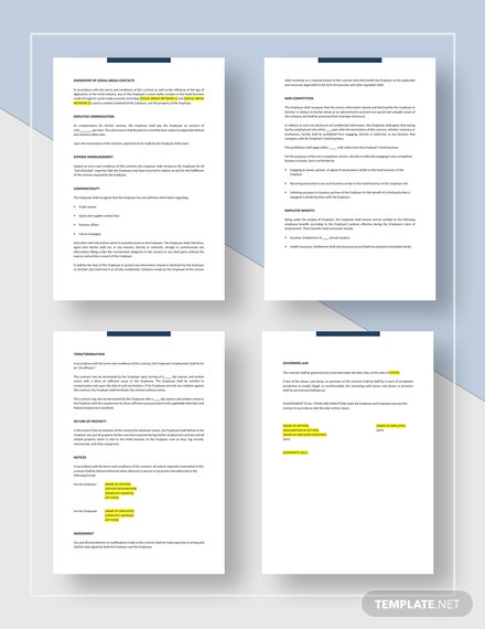 Employee Contract Download
