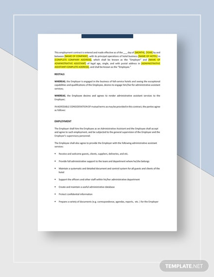 Employee Contract Template