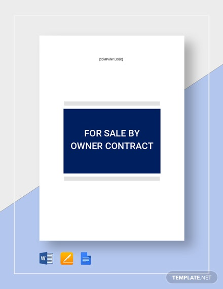 For Sale By Owner Contract Template