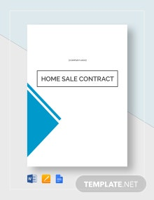 Home Sale Contract Template