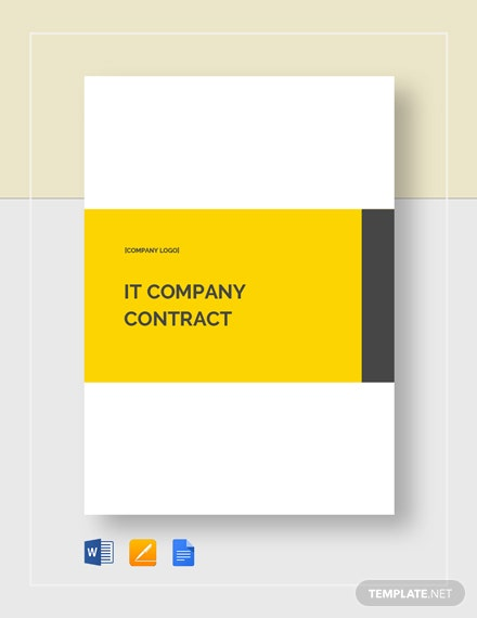IT Company Contract Template