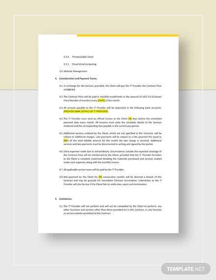 Sample IT Company Contract
