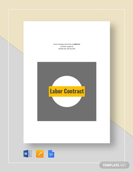 Labor Contract Template